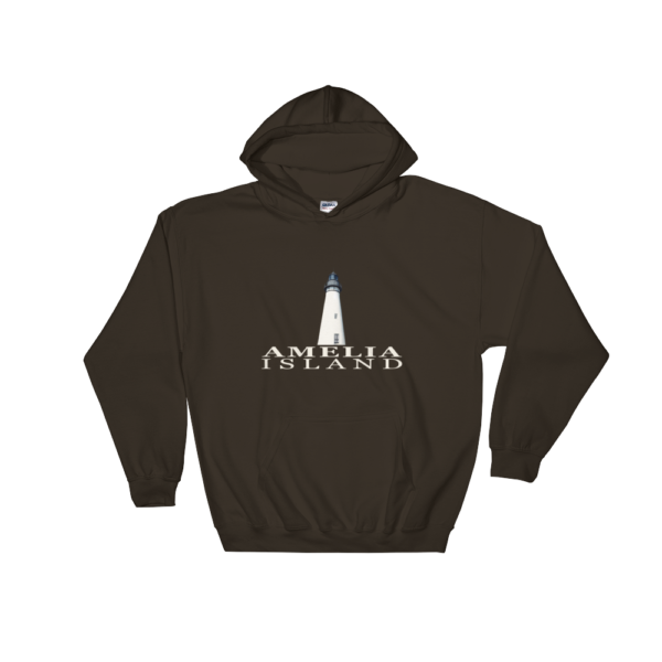 Amelia Island Lighthouse Hoodie Dark-Chocolate