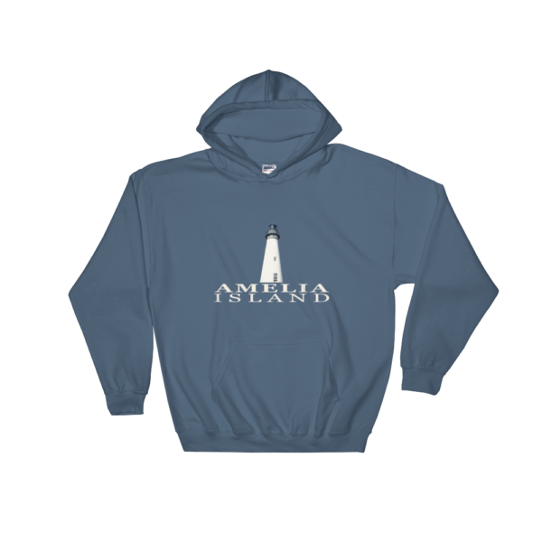 Amelia Island Lighthouse Hoodie Indigo-Blue