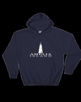 Amelia Island Lighthouse Hoodie Navy