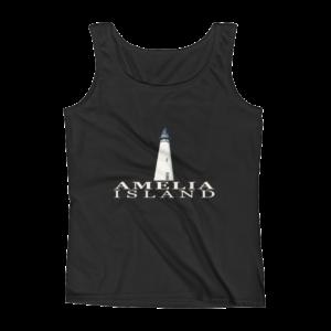 Amelia Island Lighthouse Missy Fit Tank-Top Black