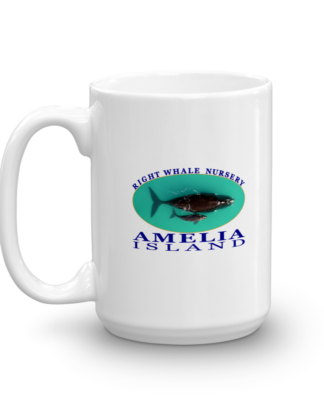 Amelia Right Whale Nursery Mug Handle-on-Left 15oz