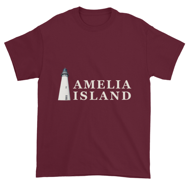 Amelia's Iconic Lighthouse Ultra Cotton T-Shirt Maroon