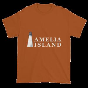 Amelia's Iconic Lighthouse Ultra Cotton T-Shirt Texas-Orange