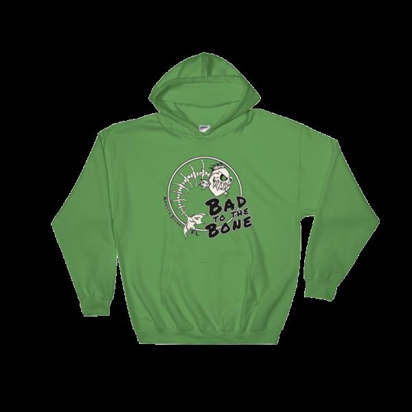 Bad to the Bone Hoodie Irish-Green