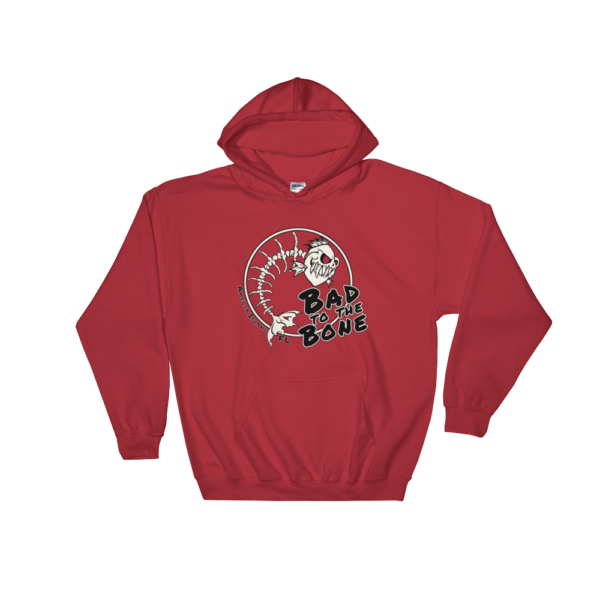 Bad to the Bone Hoodie Red