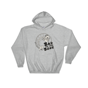 Bad to the Bone Hoodie Sport-Grey