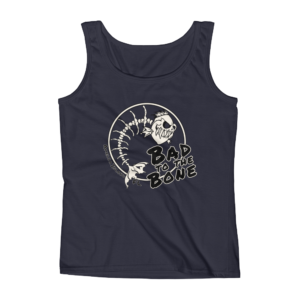 Bad to the Bone Missy Fit Tank-Top Navy