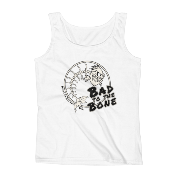 Bad to the Bone Missy Fit Tank-Top White