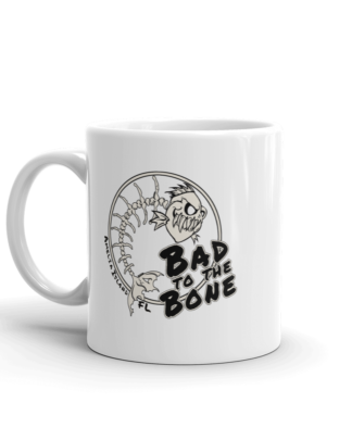 Bad to the Bone Mug Handle-on-Left 11oz