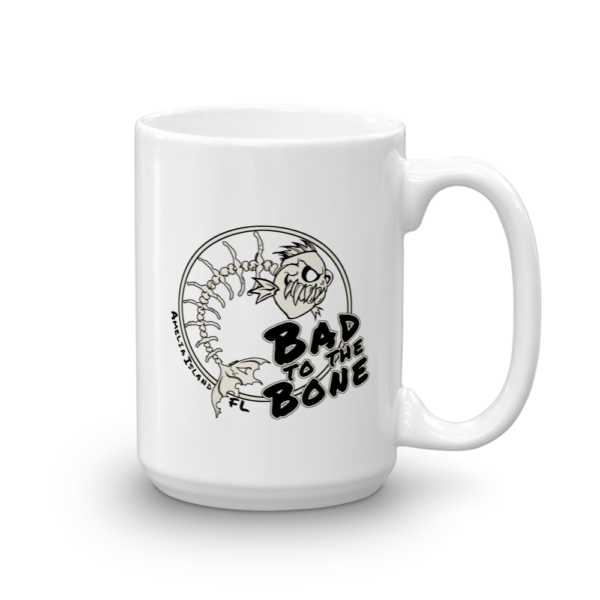 Bad to the Bone Mug Handle-on-Right 15oz