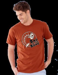 Badto the Bone Gildan Ultra Cotton 2000 T-Shirt Male Model