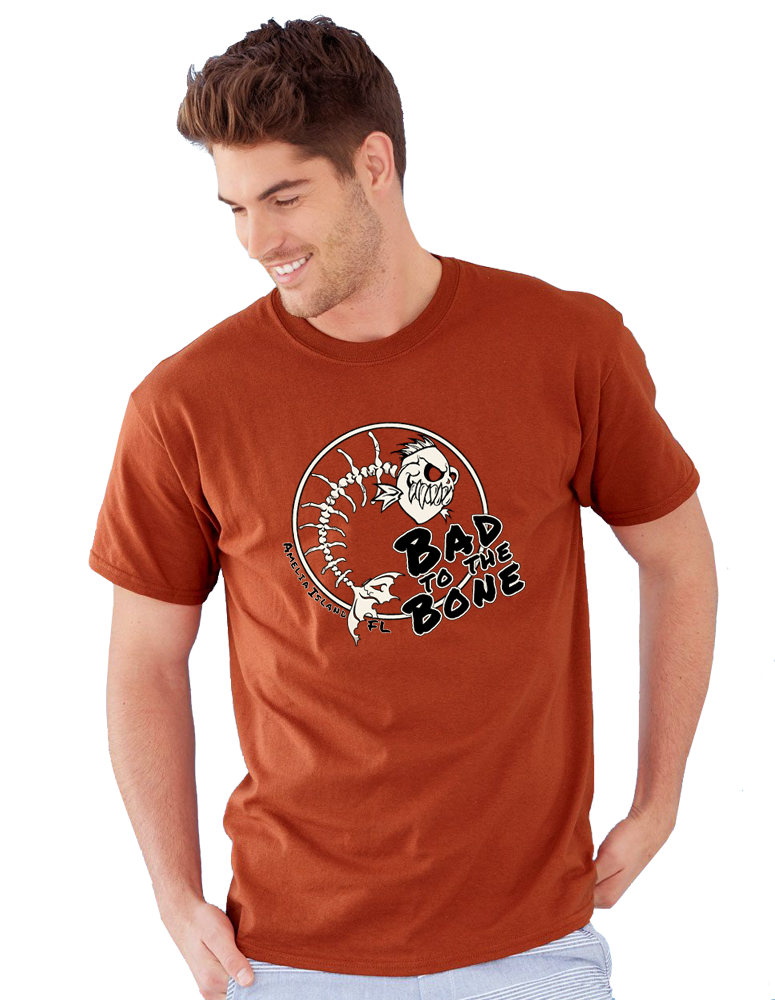 Badto the Bone Gildan Ultra Cotton 2000 T-Shirt Male Model