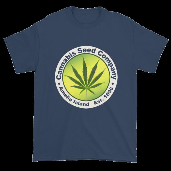 Cannabis Seed Company Cotton T-Shirt Blue-Dusk