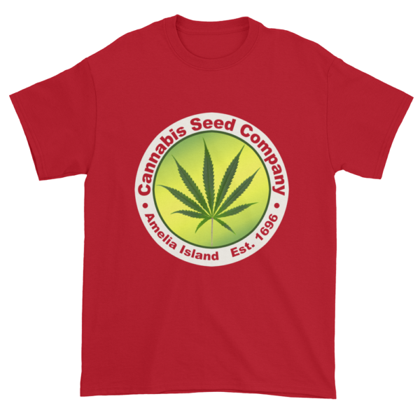 Cannabis Seed Company Cotton T-Shirt Cherry-Red