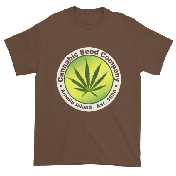 Cannabis Seed Company Cotton T-Shirt Chestnut