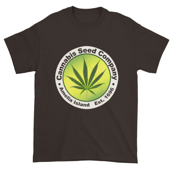 Cannabis Seed Company Cotton T-Shirt Dark-Chocolate