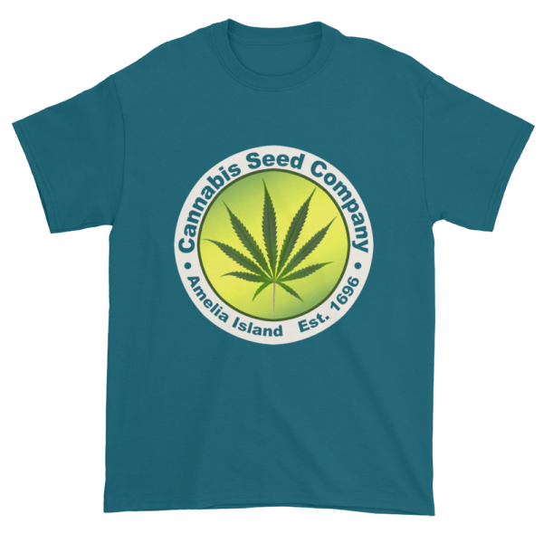 Cannabis Seed Company Cotton T-Shirt Galapagos-Blue
