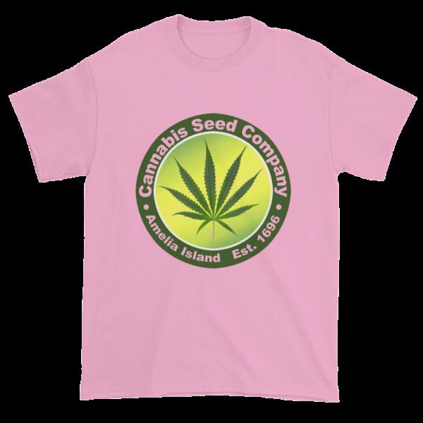 Cannabis Seed Company Cotton T-Shirt Light-Pink