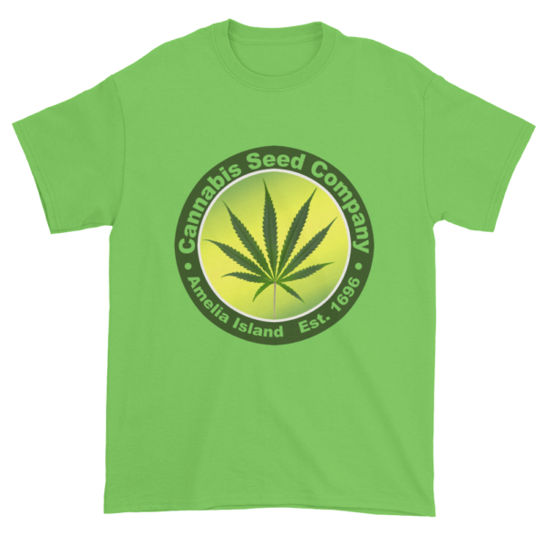 Cannabis Seed Company Cotton T-Shirt Lime