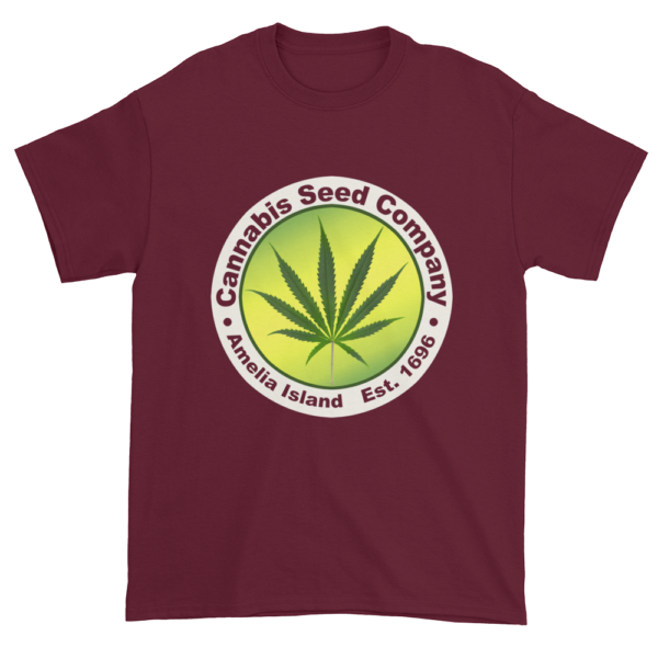 Cannabis Seed Company Cotton T-Shirt Maroon