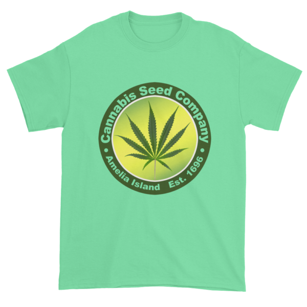 Cannabis Seed Company Cotton T-Shirt Mint-Green