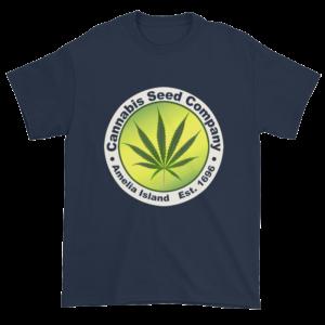Cannabis Seed Company Cotton T-Shirt Navy