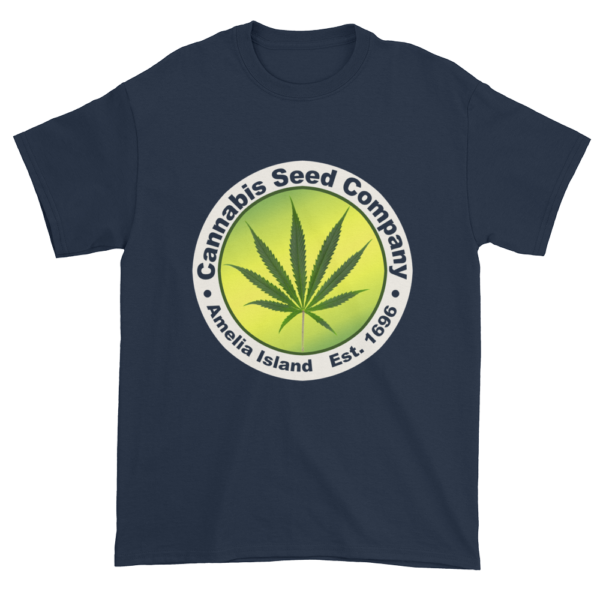 Cannabis Seed Company Cotton T-Shirt Navy