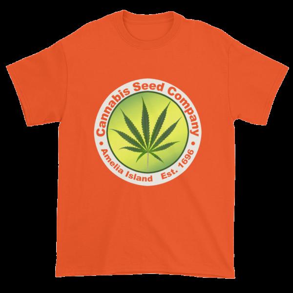 Cannabis Seed Company Cotton T-Shirt Orange