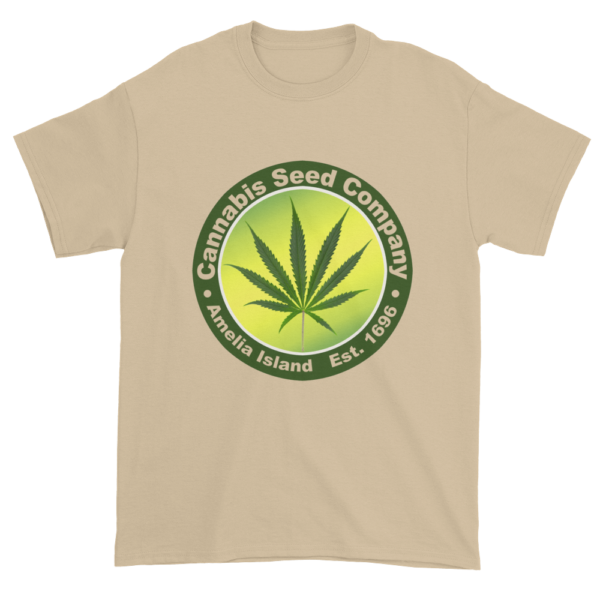 Cannabis Seed Company Cotton T-Shirt Sand
