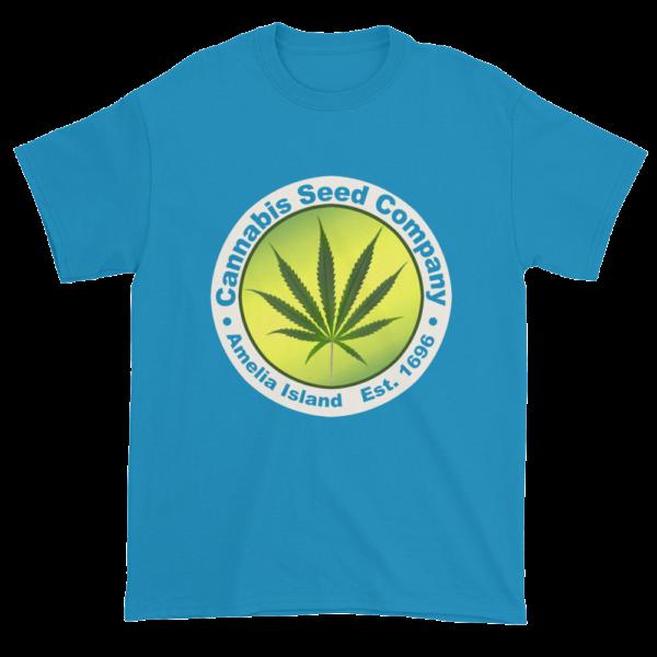 Cannabis Seed Company Cotton T-Shirt Sapphire