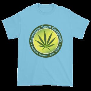 Cannabis Seed Company Cotton T-Shirt Sky