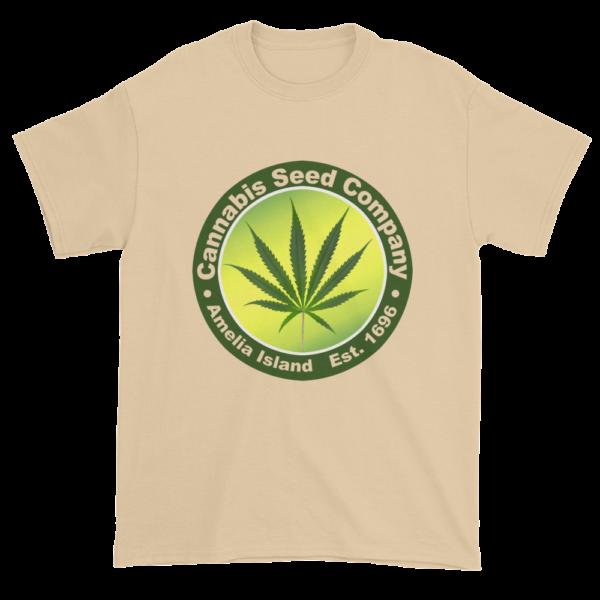 Cannabis Seed Company Cotton T-Shirt Tan
