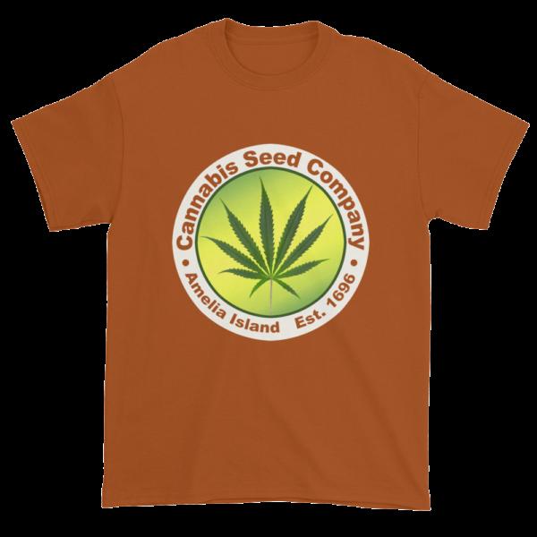 Cannabis Seed Company Cotton T-Shirt Texas-Orange