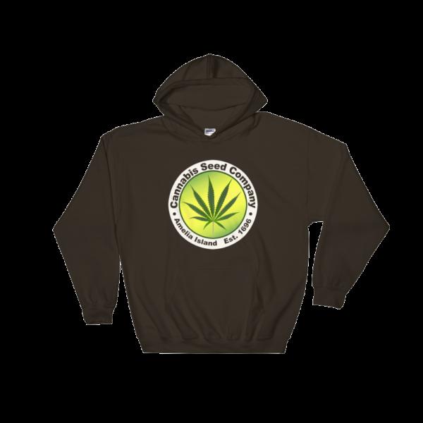 Cannabis Seed Company Hoodie Dark-Chocolate