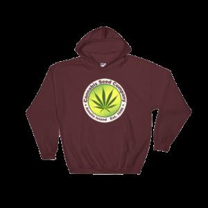 Cannabis Seed Company Hoodie Maroon