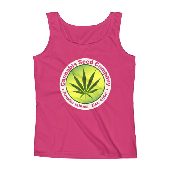 Cannabis Seed Company Missy Tank-Top Hot-Pink