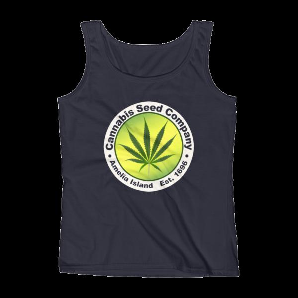 Cannabis Seed Company Missy Tank-Top Navy