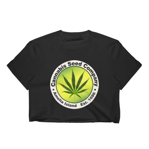 Cannabis Seed Company-Short Sleeve Cropped T-Shirt Black