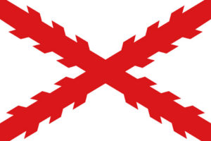 Cross of Burgundy Spanish Flag of occupation of Amelia 1565