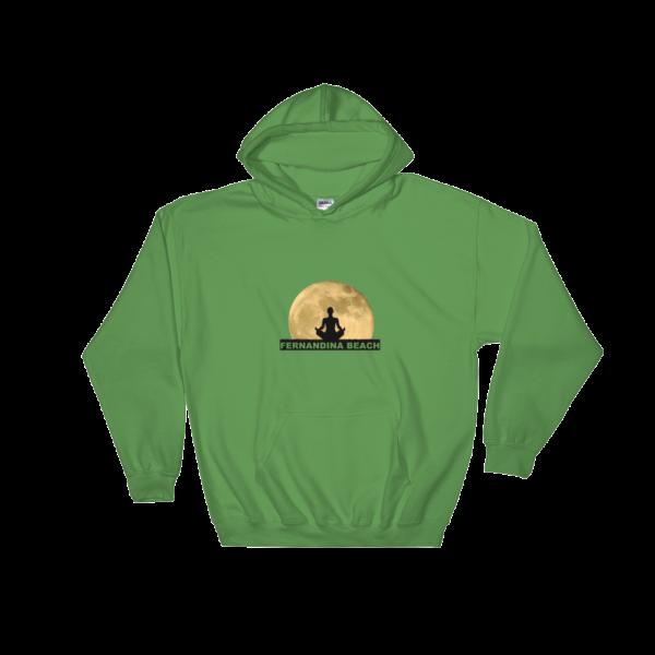 Full Moon Lotus Hoodie Irish-Green