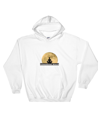 Full Moon Lotus Hoodie White