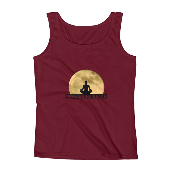 Full Moon Lotus Missy Fit Tank Top Independence-Red