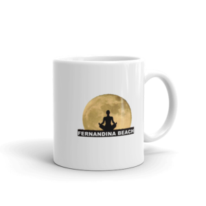 Full Moon Lotus Mug Handle-on-Right 11oz