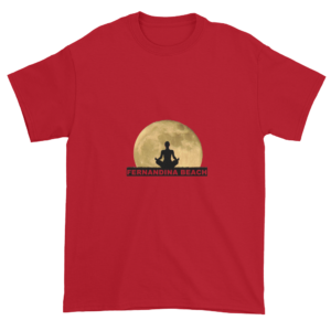 Full Moon Lotus Ultra Cotton T-Shirt Cherry-Red