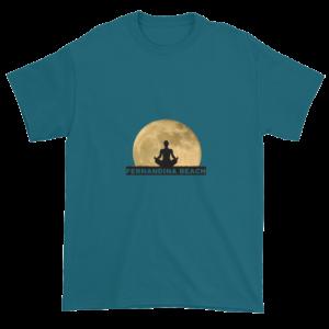 Full Moon Lotus Ultra Cotton T-Shirt Galapagos-Blue