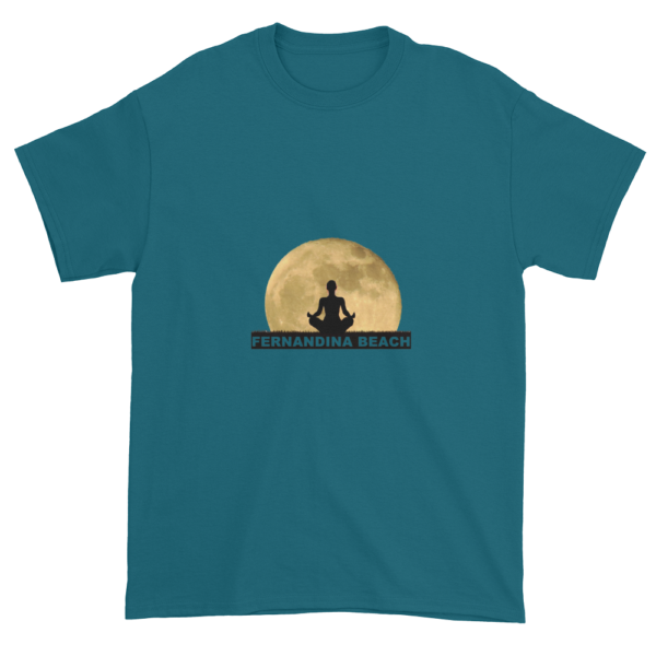Full Moon Lotus Ultra Cotton T-Shirt Galapagos-Blue