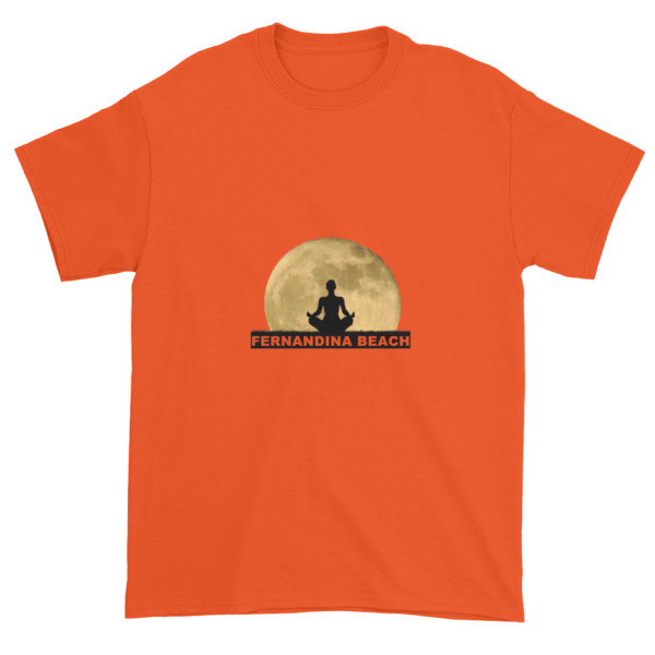 Full Moon Lotus Ultra Cotton T-Shirt Orange