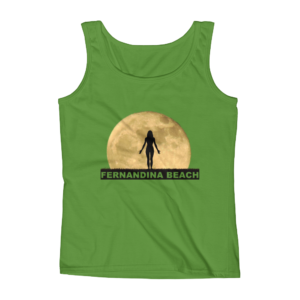 Full Moon Yoga Missy Fit Tank-Top Green-Apple