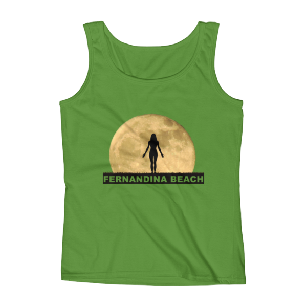 Full Moon Yoga Missy Fit Tank-Top Green-Apple