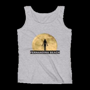 Full Moon Yoga Missy Fit Tank-Top Heather-Grey